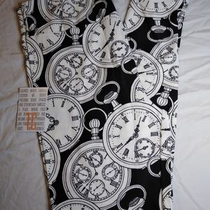 NEW TC LULAROE LEGGINGS ~ POCKET WATCH PRINT